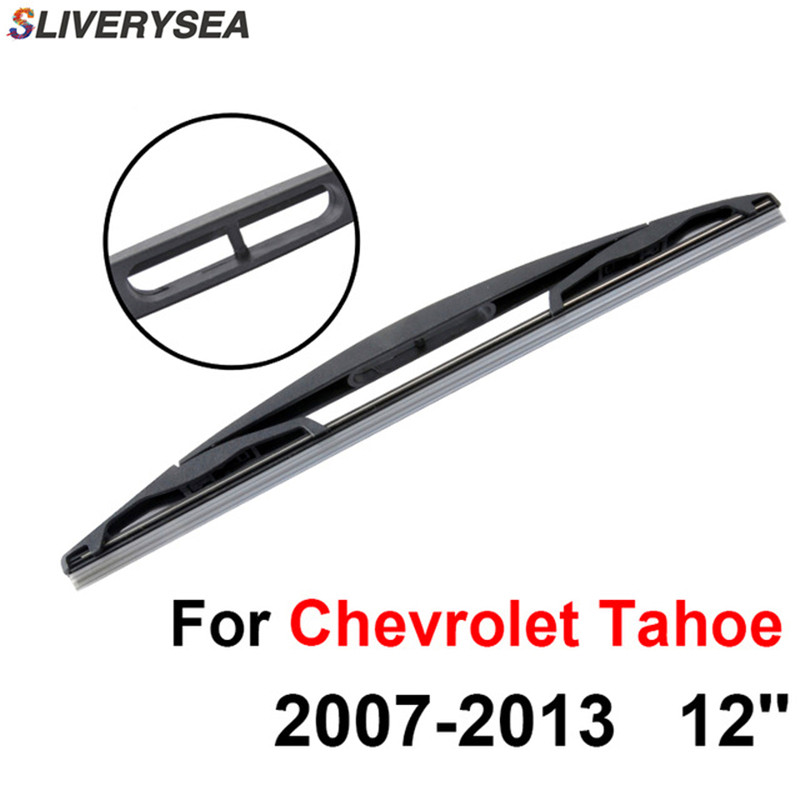 SLIVERYSEA Front and Rear Wiper Blade no Arm For Chevrolet <font><b>Tahoe</b></font> <font><b>2008</b></font> Onwards High quality Natural Rubber windscreen 22''+22'' image