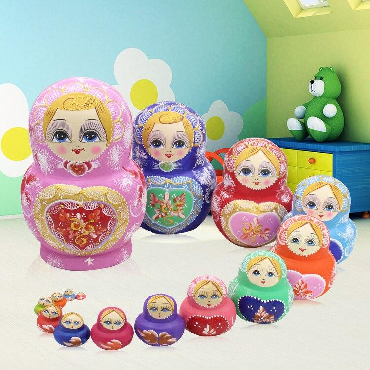 15 шт./компл. деревянные куклы на русском языке, 15 слойная сухая липа Матрешка ручной работы, игрушки матрешки, подарок для ребенка, игрушки ма