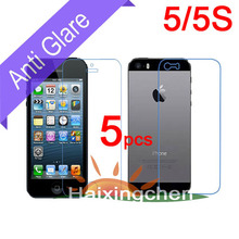 For Apple iphone 5 5G 5S Matte Anti glare Screen Protector Guard Cover Film 5pcs front