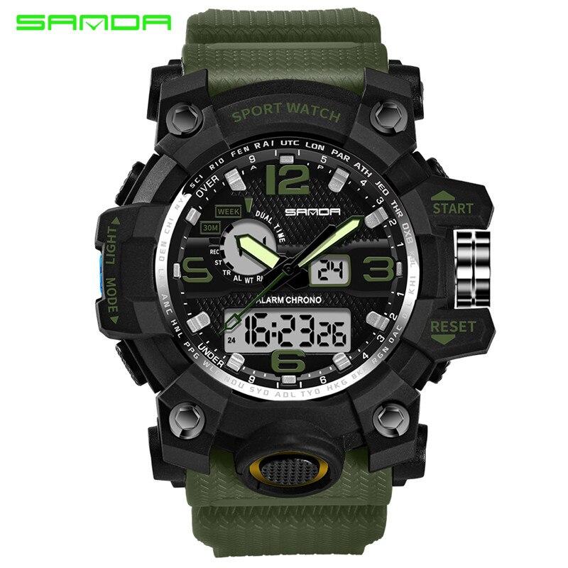 2018 Sanda G estilo digital-reloj Relojes deportivos ejército Militar reloj