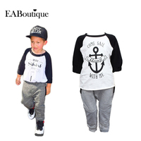 2015 New Winter Boys Clothes Sports Suit Fashion Baby Boy Clothing Set Kids Boys Tracksuit 2