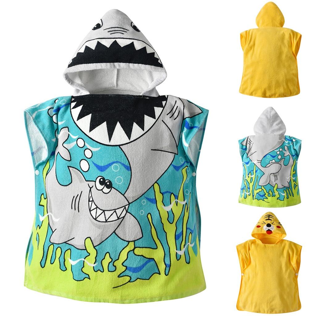 Frank Baby Jungen Mädchen Kinder Bademantel Cartoon Tiere Mit Kapuze Bad Handtuch Pyjamas Kleidung Kawaii Pyjamas Kinder Kleid Baby Kleidung