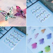 Filling Material Butterfly DIY Epoxy Resin Crafts Filler Jewelry Making Handmade 3D Colorful Insect Dragonfly Decoration(China)