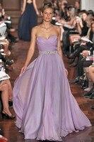 Sweetheart Chiffon Beaded Sashes Light Purple Bridesmaid Dresses Floor Length New Design 2015 Vestido De Festa