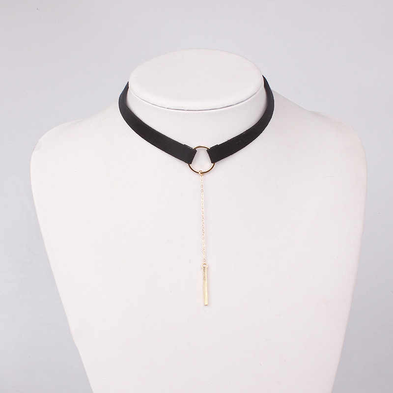 新ファッション糸くず Chockers シンプルな女性のチョーカーネックレスファッション女性 2017 文のネックレス
