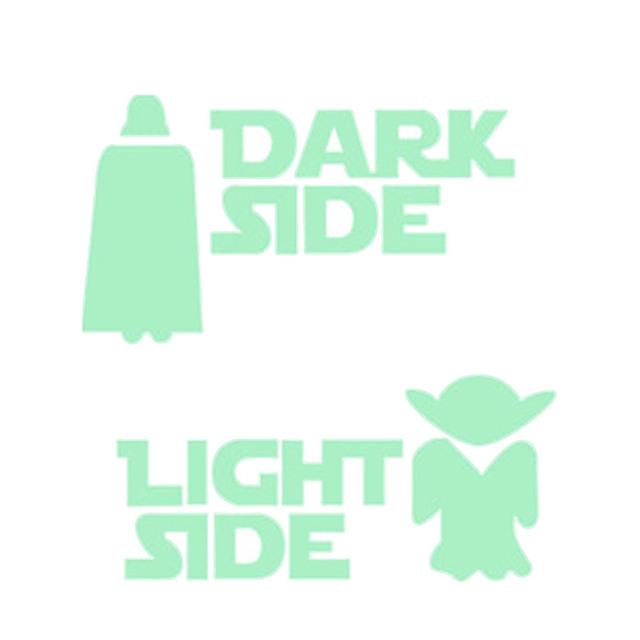 1Pcs Home Decor Luminous switch stickers 3D stereoscopic wall stickers  Children's Room Fluorescent Star Wars Wallpaper