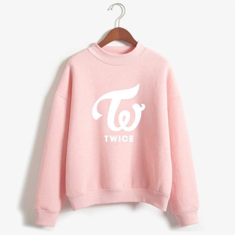 2019 Hoodies women sweatshirts with hood k pop Hoodies twice New kpop Ladies Hoodies Plus Size