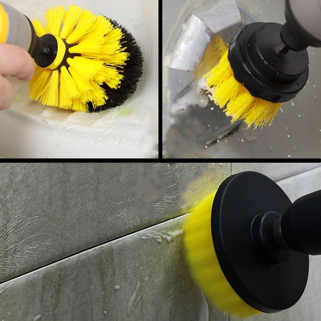 Power Scrubber Brush Set for Bathroom | Drill Scrubber Brush for Cleaning Cordless Drill Attachment Kit Power Scrub Brush 2