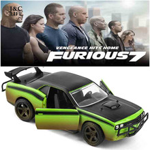 1:32 Fast & Furious SRT-8 Car Model Metal Alloy Diecasts & Toy Vehicles Model Miniature Scale Model Toy Car Toys for Children