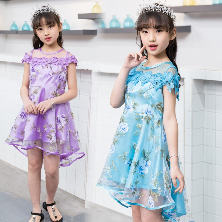 Flower Girls Dress Summer Style Toddlers Teen Children Princess Clothing Fashion Kids party Clothes Sleeveless Dresses for Girls 2016 summer style children baby girls dress princess clothing kids sleeveless casual party dresses