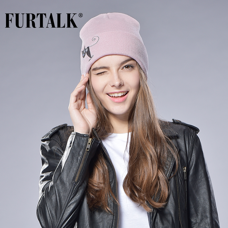 Autumn Winter Stocking Hat Female Male Knitted Cuff   Beanies   Hats for Women Wool Hat Cap Ski Brand Cap Men   Beanie   Girls Hats