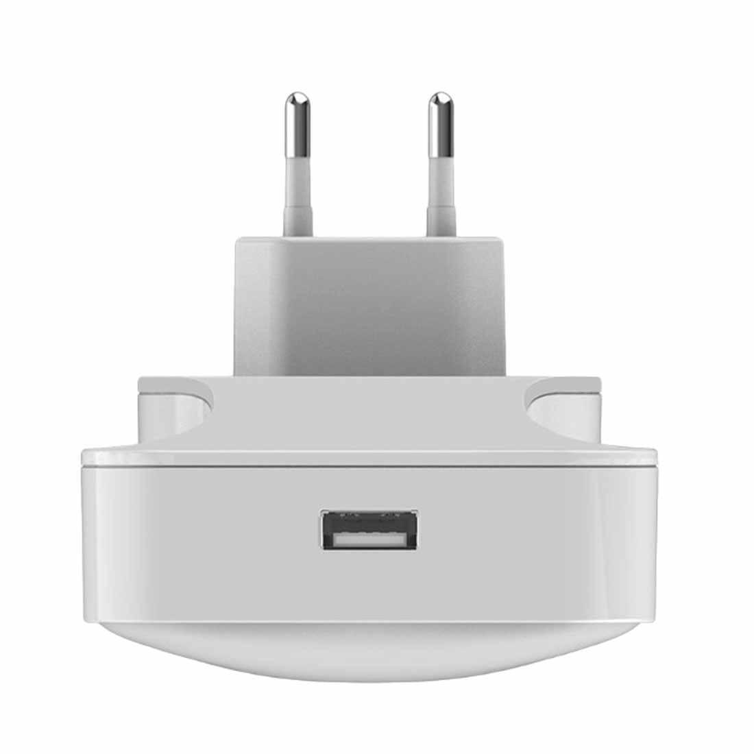 Умная розетка ночник белый теплый свет переключаемый мини USB Заряженная светодиодная Индукционная лампа ЕС/США штекер