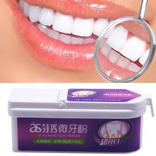 hot deal buy 40g natural oral hygiene teeth whitener physical detoxifying & whitening oral dental tooth brushing powder tooth powder