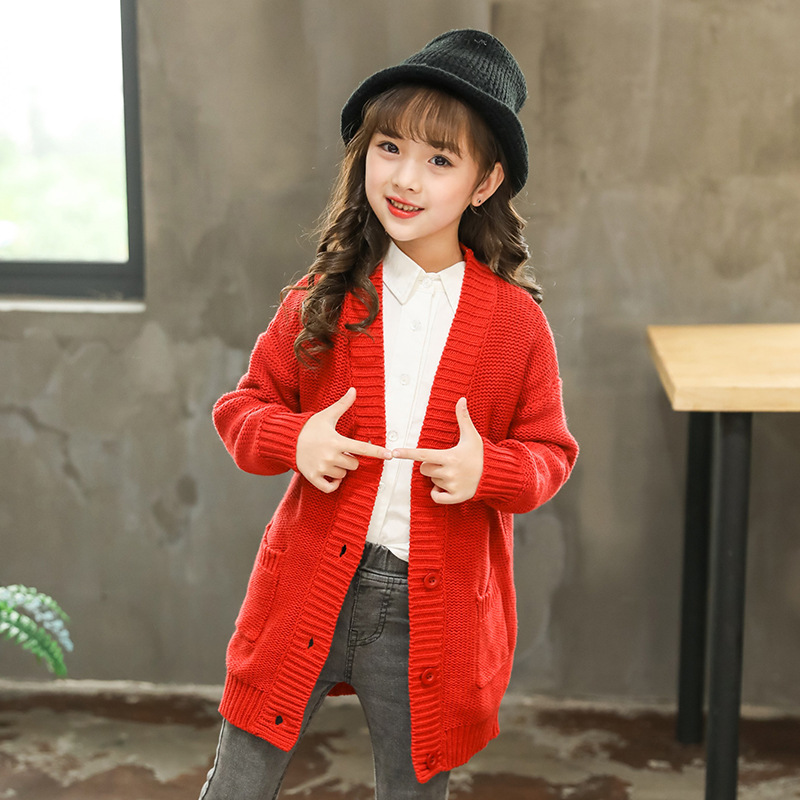 2018 Autumn Winter Long Sleeves Girls Sweater Kids Cardigan Girls Clothes Baby Toddler Teen School Girl Coats And Jackets 10 12 satlink ws 6979se dvb s2 dvb t2 mpeg4 hd combo spectrum satellite meter finder satlink ws6979se meter pk ws 6979