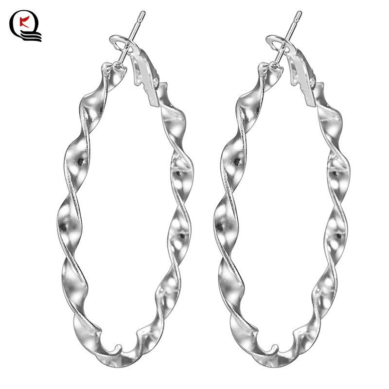 Girls Vogue Sterling Silver Spherical Hoop Earrings Fashionable Engagement Wedding ceremony Get together Earrings Advantageous Presents Jewellery For Feminine