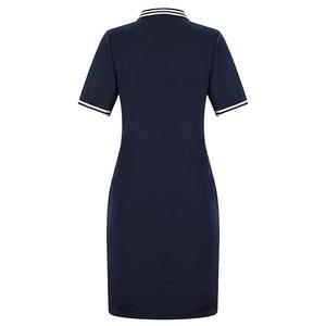 Новинка 2020, модное женское платье Поло, большие размеры 6XL, выше колена, мини-платья, вечерние платья для работы, женские элегантные платья выше колена, размер d Vestidos