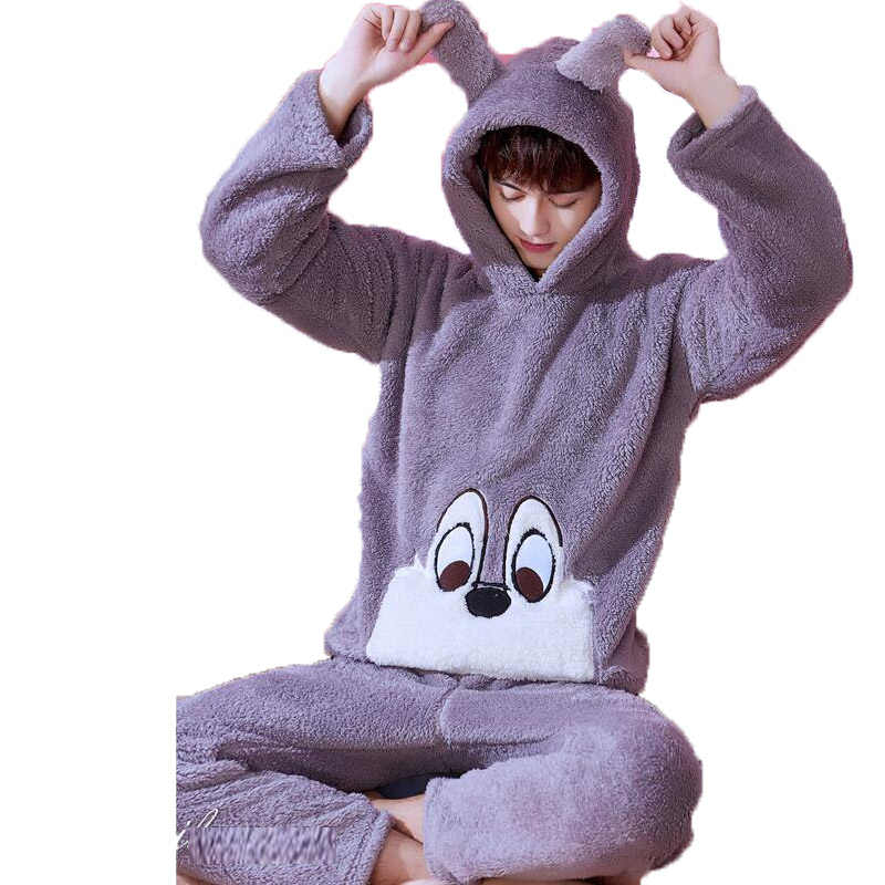Heren Pyjama Sets Winter Fashion Lange Mouwen Vest Mannen Flanellen Pyjama Kostuums Mannelijke Pijama Nachtkleding Leisure Thuis Kleding
