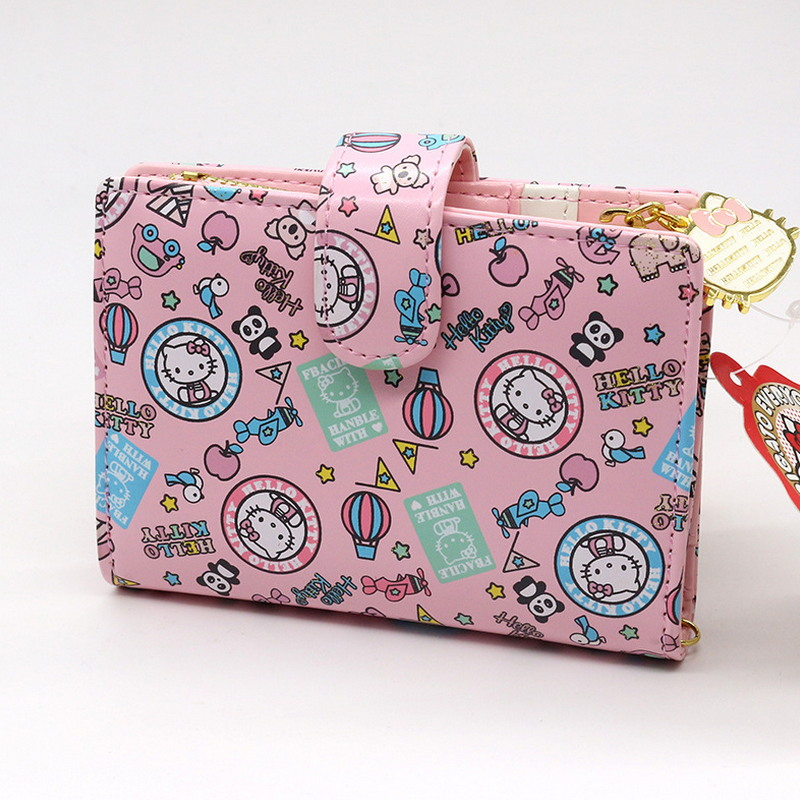 Free shipping floral business card holder women hasp wallet high free shipping floral business card holder women hasp wallet high quality pu pink hello kitty credit card wallet in card id holders from luggage bags on reheart