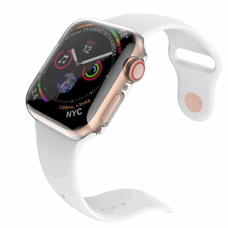 online store ea145 e7f90 ASHEI Clear Hard PC Cover For Apple Watch 4 Case 40mm 44mm Screen Protector  TPU All-Around Ultra-Thin Case For iWatch Series 4