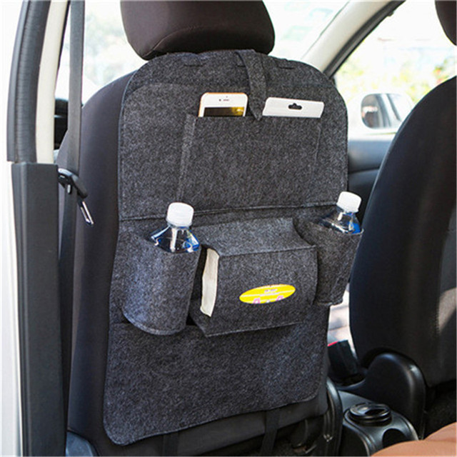 Waterproof Fabric Multi Pocket Car Seat Back Pouch Auto Vehicle Space Saver Organizer Bag Hanging