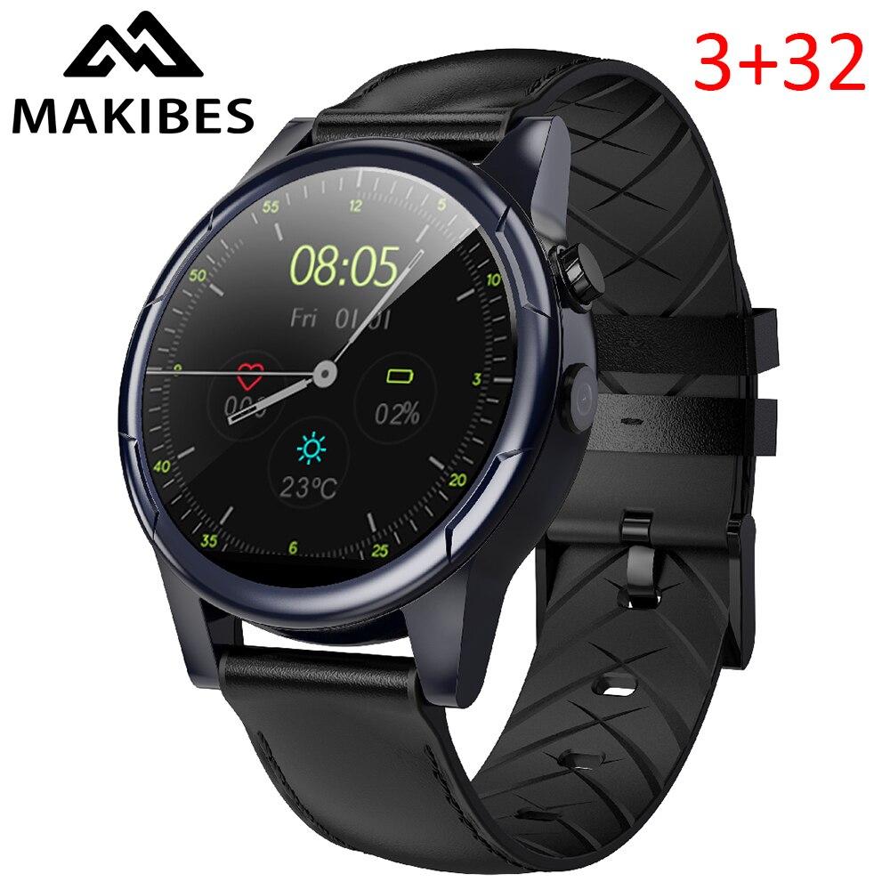Makibes M361 indépendant 4G appelant horloge 1.61 écran GPS hommes femmes montre intelligente téléphone 600 mAh batterie 1 + 16 GB GPS Nano SIM WIFI