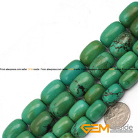 13x18mm Column Shape Natural Turquoise Beads Natural Stone Beads DIY Loose Beads For Jewelry Making Strand