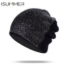 ISummer Donne Beanie Lavorato A Maglia Skullies Berretti Cappelli di  Inverno delle donne delle signore Del 7e2914132e88