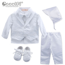 Gooulfi Baby Christening Boys Christening Baby Boy Baptism Boy Clothes Boy Baptism Baby Clothing Newborn Clothes Set Clothes cheap NYLON Polyester COTTON Fashion Turn-down Collar Sets Single Breasted Full REGULAR Fits true to size take your normal size
