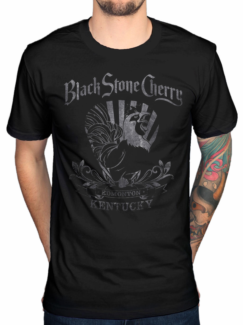 Design your own t shirt edmonton - 2017 Cool Men Funny Black Stone Cherry Rooster T Shirt Rock Chris Robertson Magic Mountain Design