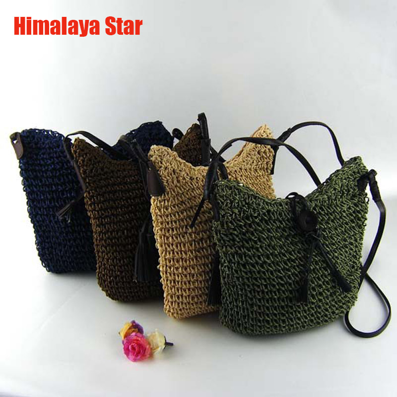 2016 Newest Fashion Woven straw Shoulder Bags Summer Women Crossbody Burlap Pouches Beach Small Travel Handbag bolsas femininas
