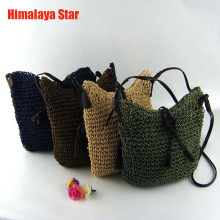 2016 Newest Fashion Woven straw Shoulder Bags Summer Women Crossbody Burlap Pouches Beach Small Travel Handbag
