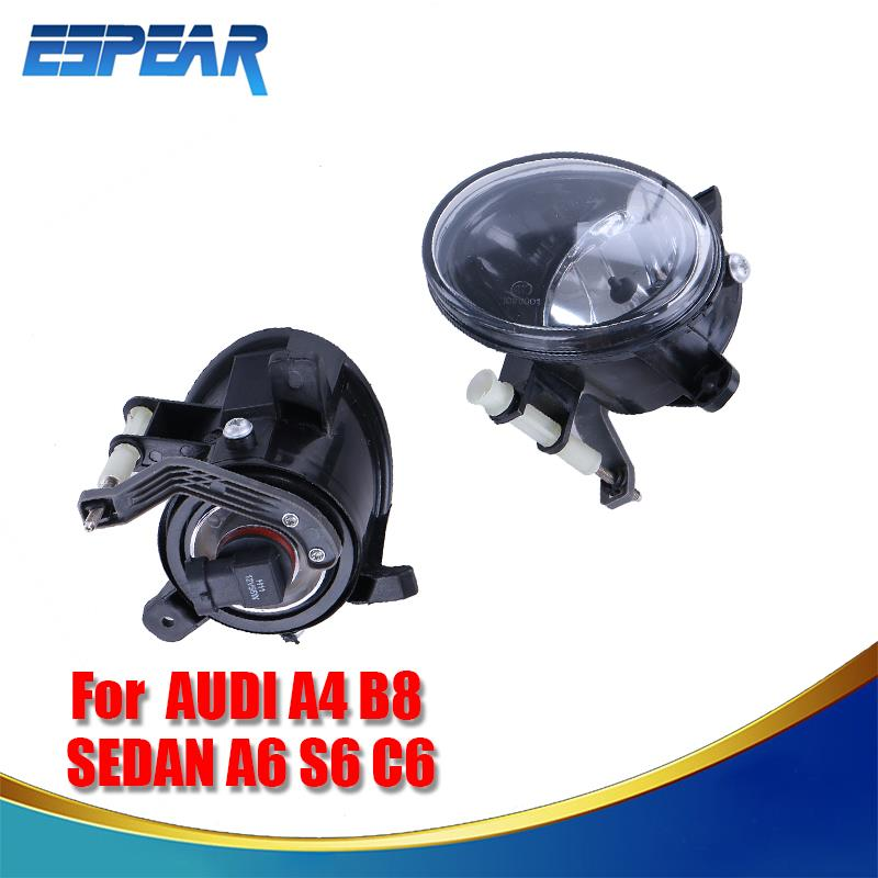 2x Car Front Bumper Clear Glass Lens Fog Lamp Fog Light For AUDI A4 B8 Q5 Sedan A6 S6 C6 Replacement Accessory #984 доска для объявлений dz 1 2 j8b [6 ] jndx 8 s b