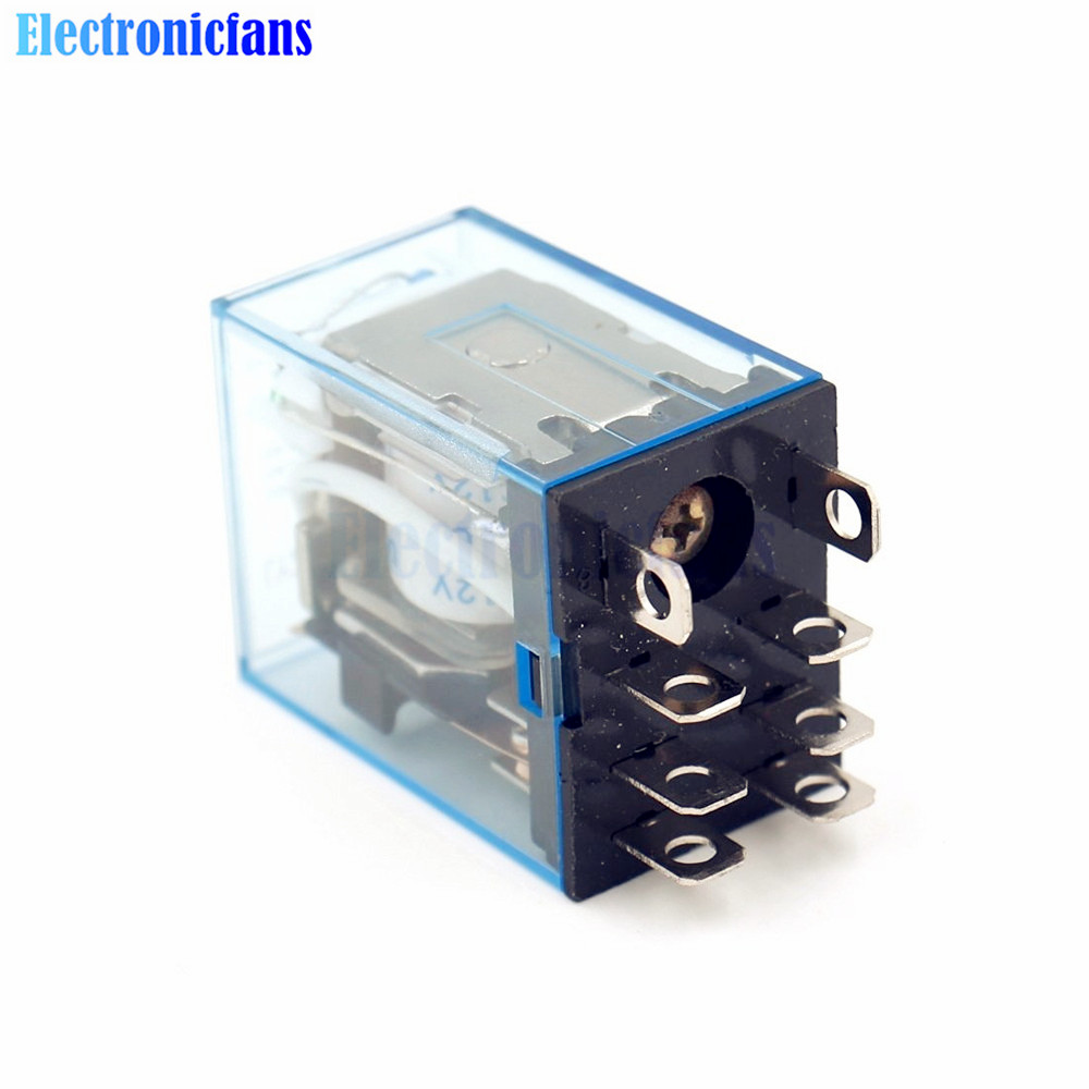 12v Dc 10a Coil Power Relay Ly2nj Small Omron Module Dpdt 8 Tutorial Pin Led Lamp Indication In Integrated Circuits From Electronic Components Supplies On