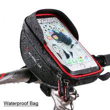 Wodoodporny futerał na telefon komórkowy stojak na iphone 11 XS Max XR torba na telefon do Samsung S10 S9 Plus rowerowa przednia torba na kierownicę tanie tanio evolou CN (pochodzenie) Uniwersalny AA0329 Rowerów 6 0 inch About 219g 18*11cm piece 0 25kg (0 55lb ) 20cm x 15cm x 10cm (7 87in x 5 91in x 3 94in)