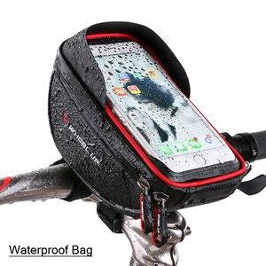 Image 1 - Wodoodporny futerał na telefon komórkowy stojak na iphone 11 XS Max XR torba na telefon do Samsung S10 S9 Plus rowerowa przednia torba na kierownicę