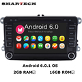 VW Радио 2 Г RAM Android 6.0 Quad Core Dvd-плеер Автомобиля Стерео Navi Для VW Skoda POLO GOLF PASSAT CC JETTA Steeringwheel OBD WIFI