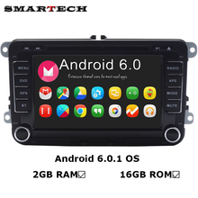 VW Radio 2G RAM Android 6.0 Quad Core Car DVD Player Stereo Navi For VW Skoda POLO GOLF PASSAT CC JETTA Steeringwheel OBD WIFI