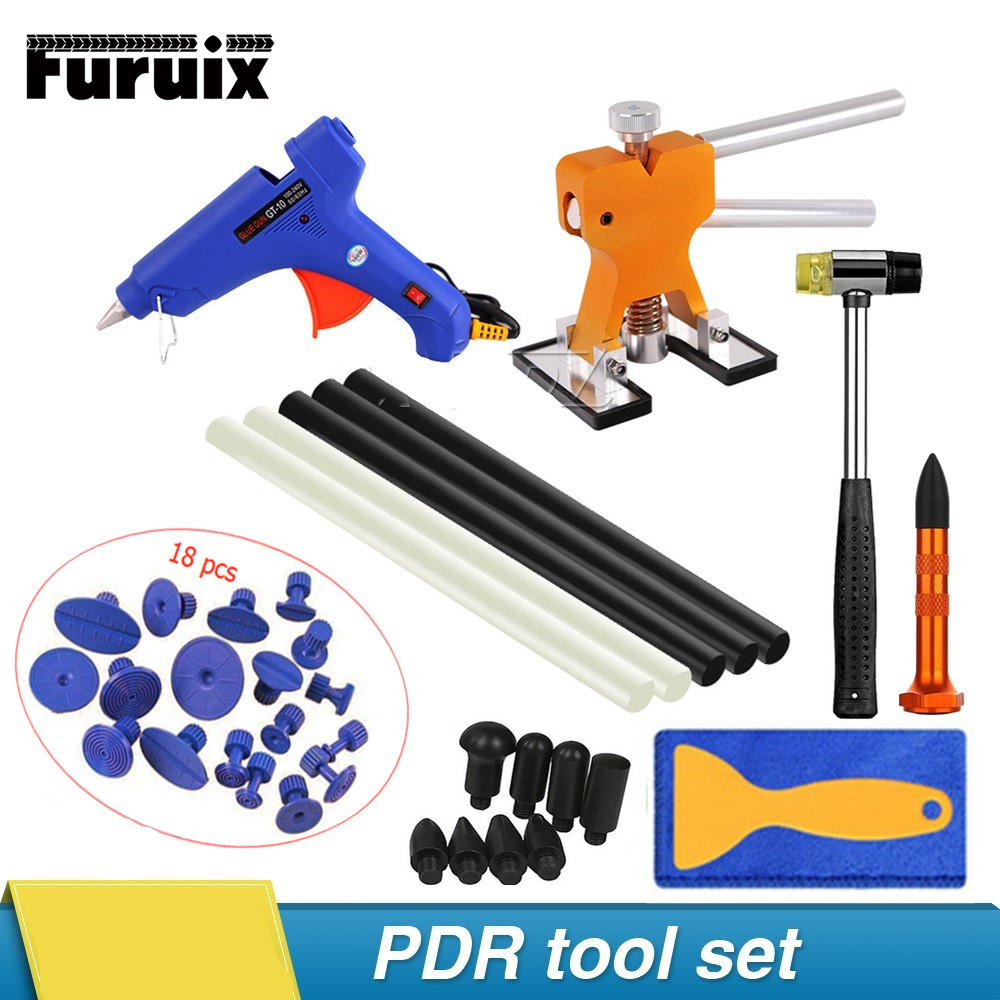 PDR Tools Paintless Dent Repair Removal Tools Kits Dent Lifter Puller Tabs PDR Glue Tabs Glue