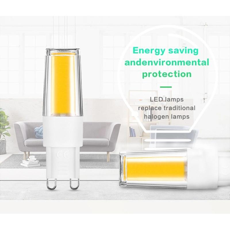 LKLTFX 100 Uds productos 2508 AC110V 220V 3W LED lámpara bombilla de cerámica vela luz cool led decoración del hogar - 4