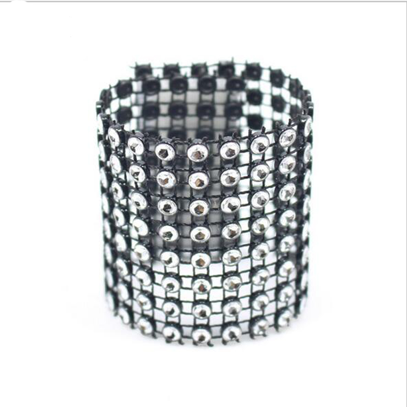 anneau 100 strass Wrap PcsLot serviette noir plastique odCxrWeB
