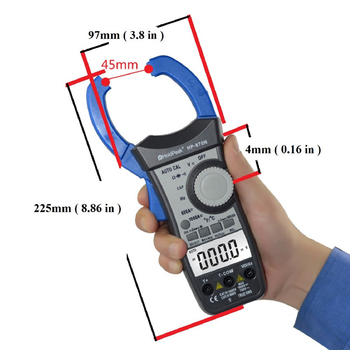 HP-870N Auto Range DC AC Digital Clamp Meter Multimeter Temperature Meter True RMS Frequency Backlight
