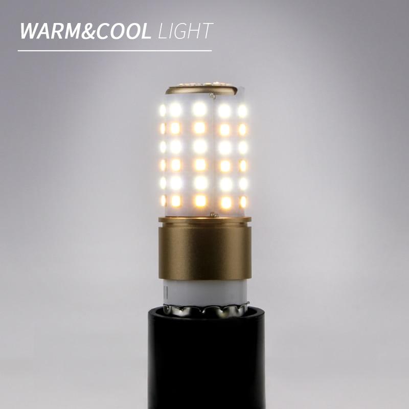 E27 220V LED Lamp SMD2835 LED Corn Bulb E14 LED Bombillas 20 50 70leds Three Color Temperature Light Warm/White Lampara Lighting
