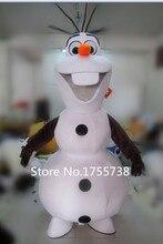 Взрослый новый костюм Олафа костюм одежда снеговика для рождественской вечеринки костюм