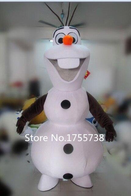 Adult New Olaf Mascot Costume Snowman Clothing Christmas Party Suit & Adult New Olaf Mascot Costume Snowman Clothing Christmas Party Suit ...