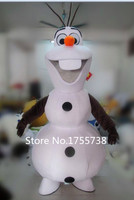 Adult New Olaf Mascot Costume Snowman Clothing Christmas Party Suit