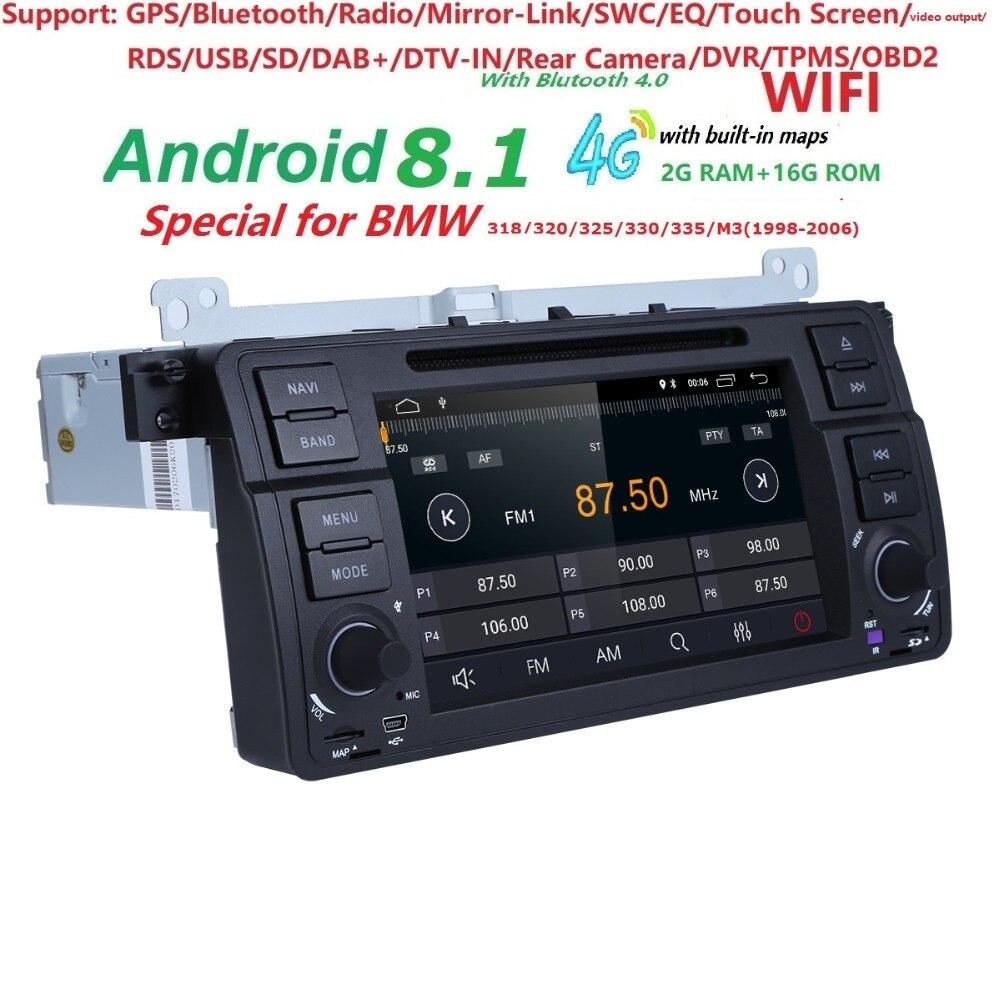 Android 8.1 Quad core HD 1024 * 600 pantalla 2 DIN Car DVD GPS Radio - Electrónica del Automóvil - foto 3