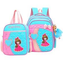 High Quality Lovely Princess Kid's School Bag Primary Boys Girls Alleviate Burden Shoulder Waterproof