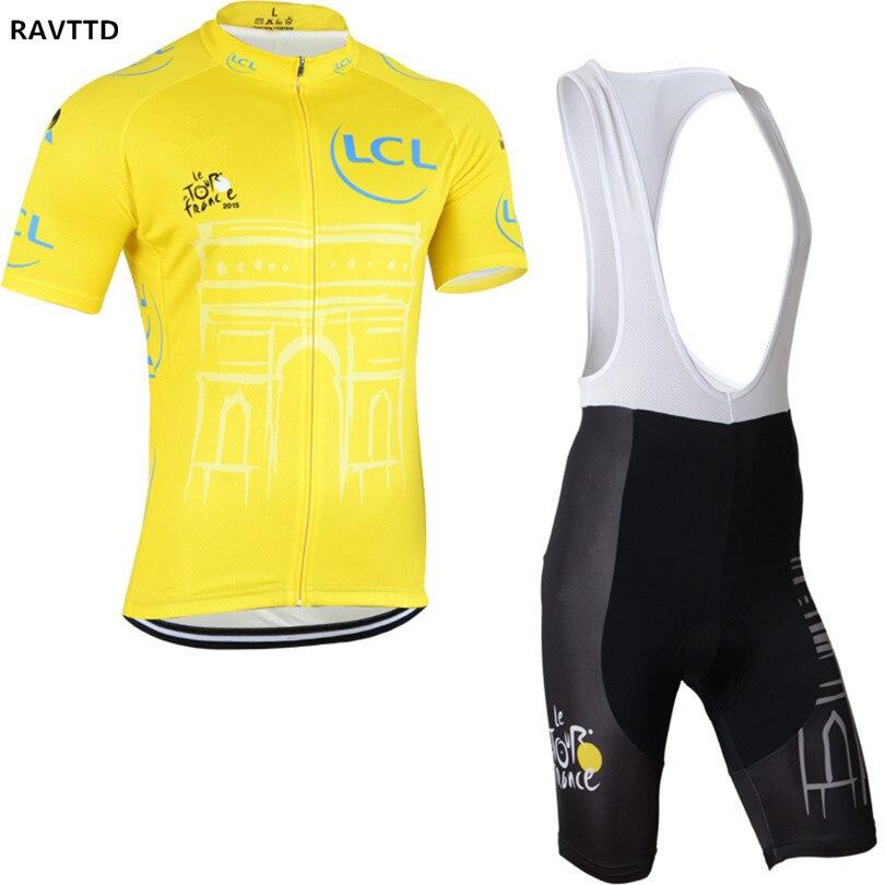 2015 Tour De France Équipe manches Courtes Vélo jersey Maillot Ciclismo Vêtements de Cyclisme ropa ciclismo Vêtements de Sport