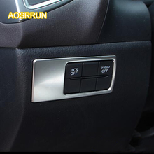 AOSRRUN The large lamp of ABS is used to adjust the large lamp switch panel Cover Car accessories For Mazda CX-4 2016 2017