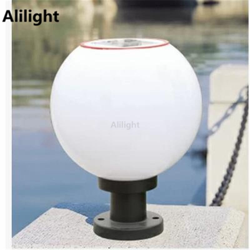 Outdoor globe solar post light pillar lamps street lighting outdoor globe solar post light pillar lamps street lighting stainless steel lampholder landscape lighting column light fixtures aloadofball Gallery